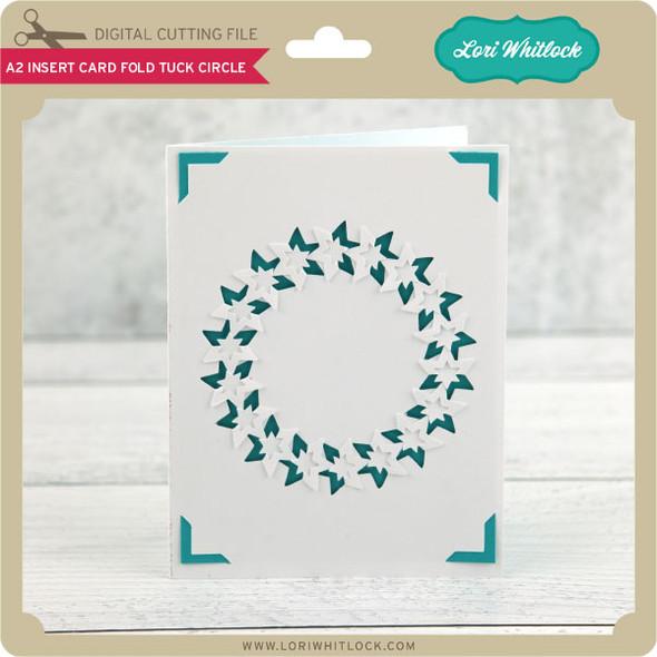 A2 Insert Card Fold Tuck Circle