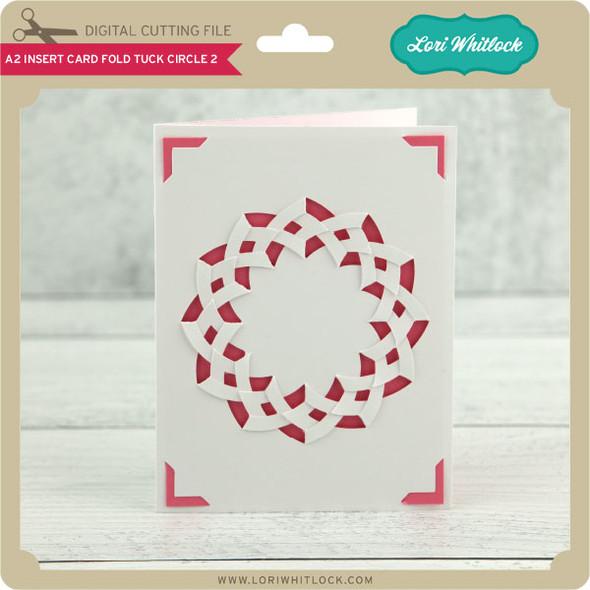 A2 Insert Card Fold Tuck Circle 2