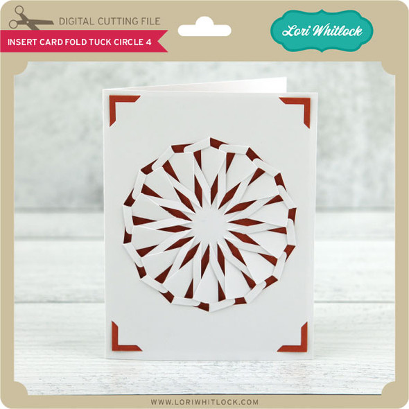 A2 Insert Card Fold Tuck Circle 4
