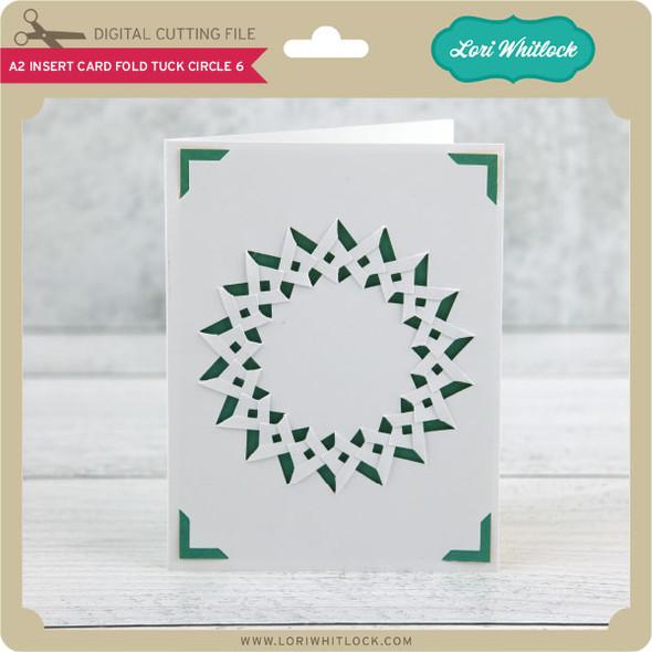 A2 Insert Card Fold Tuck Circle 6