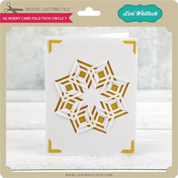 A2 Insert Card Fold Tuck Circle 7