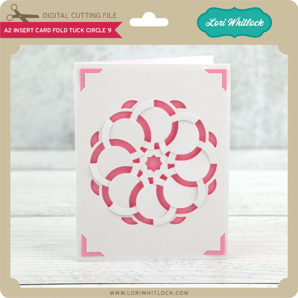 A2 Insert Card Fold Tuck Circle 9