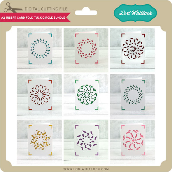 A2 Insert Card Fold Tuck Circle Bundle
