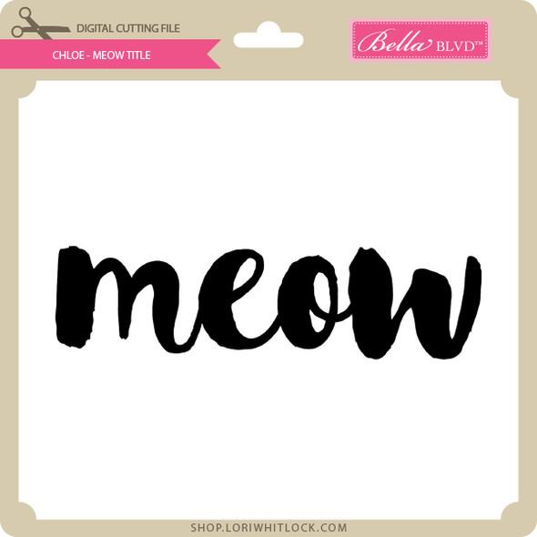 Chloe - Meow Tile