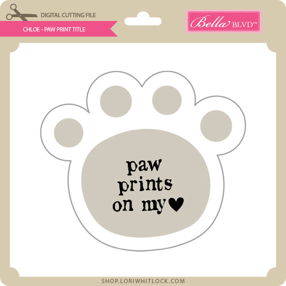 Chloe - Paw Print Tile