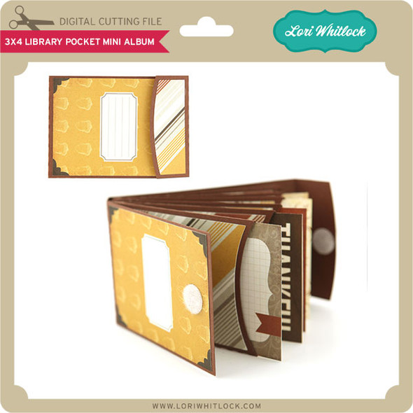 3X4 Library Pocket Mini Album