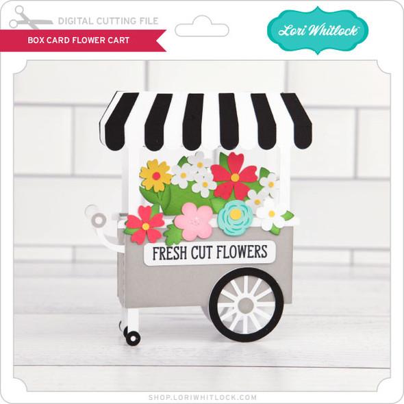 Box Card Flower Cart