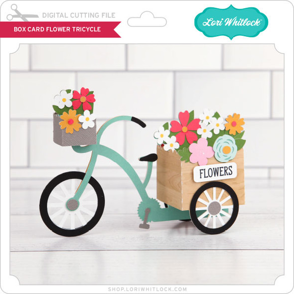 Box Card Flower Tricycle