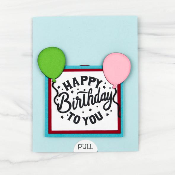 Double Slider Card Birthday Balloons