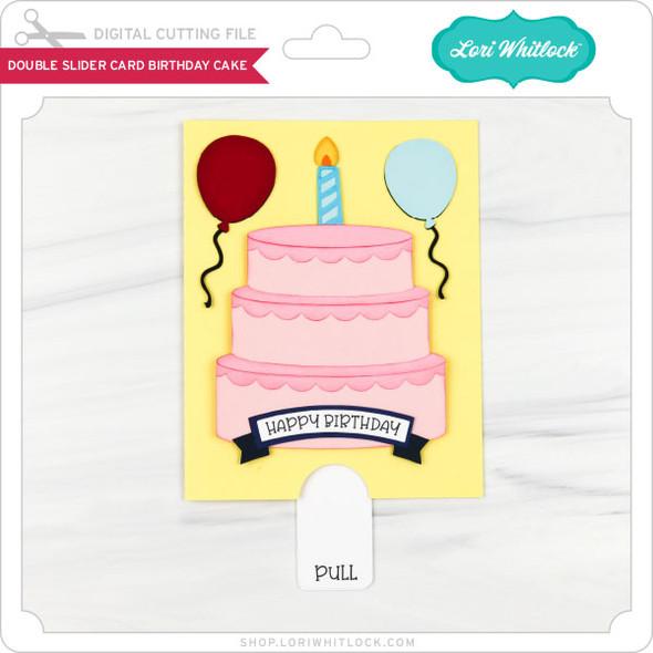 Double Slider Card Birthday Cake