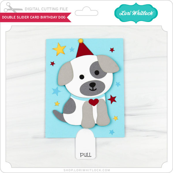 Double Slider Card Birthday Dog