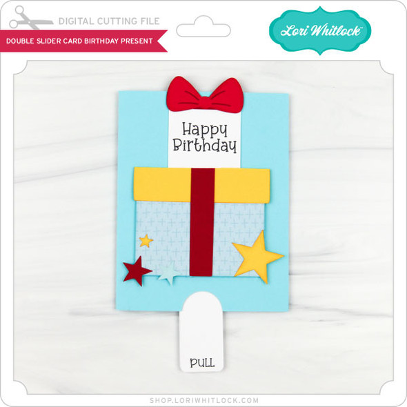 Double Slider Card Birthday Present