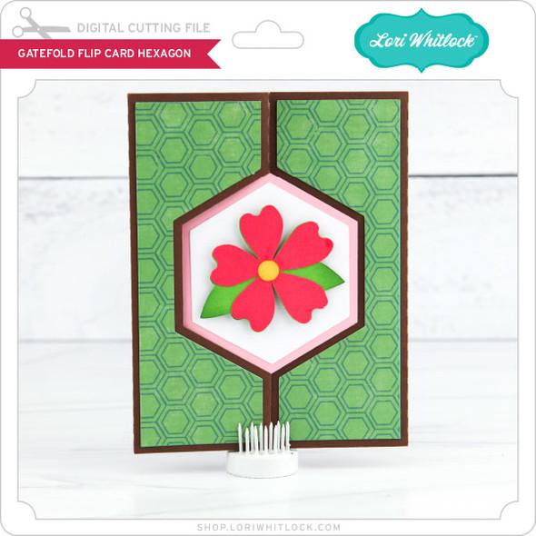 Gatefold Flip Card Hexagon