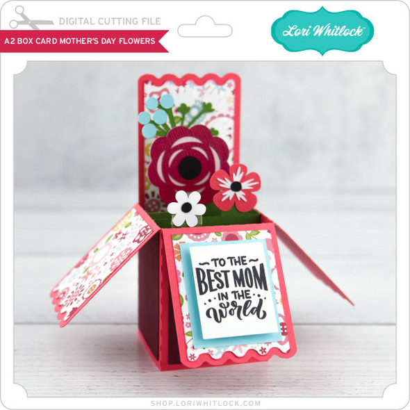 A2 Box Card Mother's Day Flowers