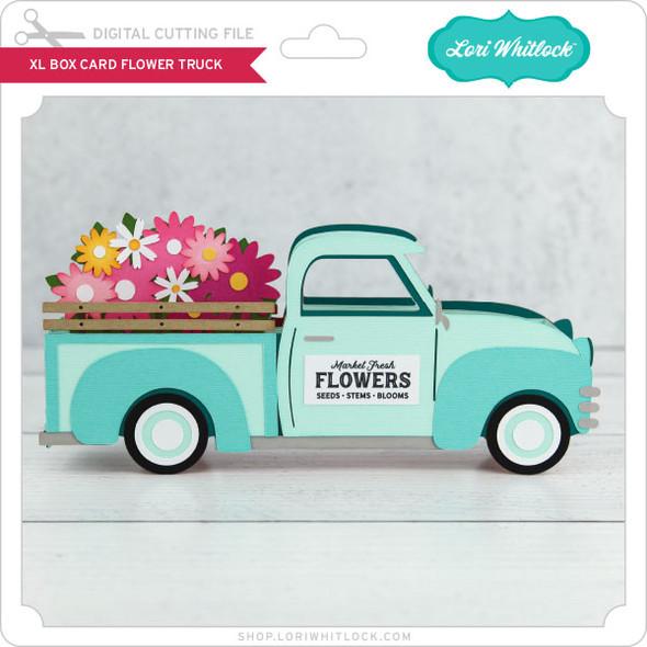 XL Box Card Flower Truck