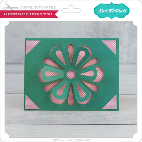 A2 Insert Card  Cut Fold Flower 1
