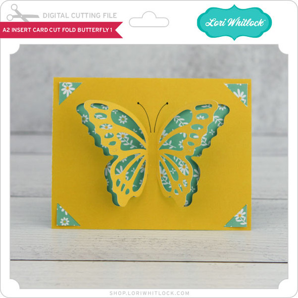 A2 Insert Card  Cut Fold Butterfly 1