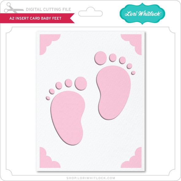 A2 Insert Card Baby Feet