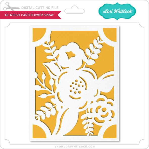 A2 Insert Card Flower Spray