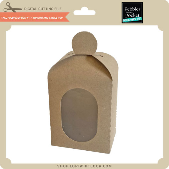 Tall Fold Over Box With Window And Circle Top