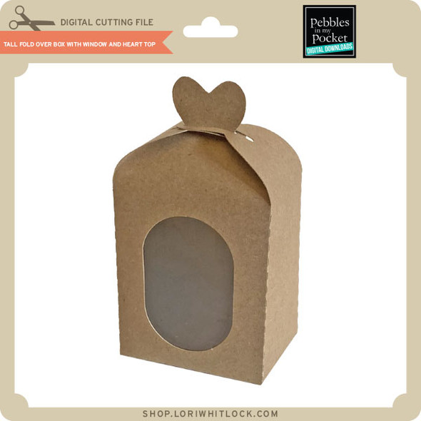 Tall Fold Over Box With Window And Heart Top