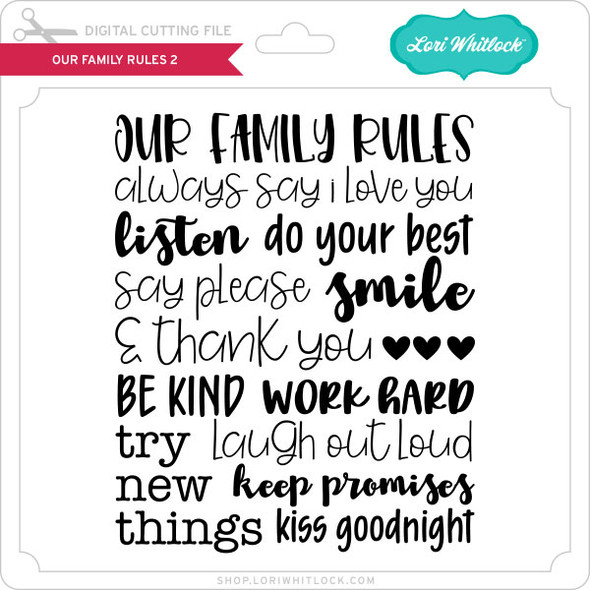 Our Family Rules 2