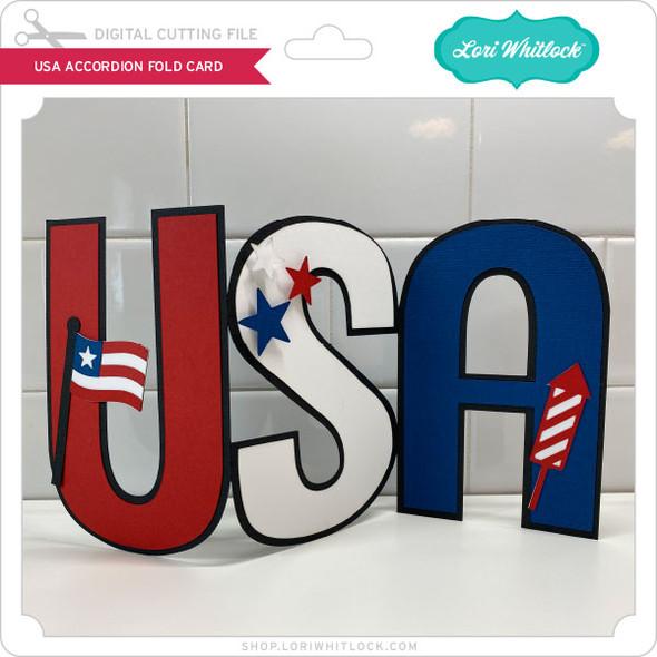 USA Accordion Fold Card