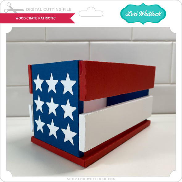 Wooden Crate Patriotic