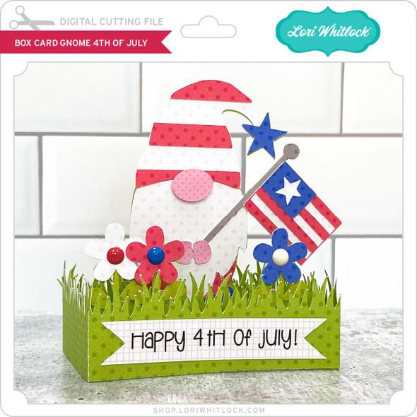Box Card Gnome 4th of July