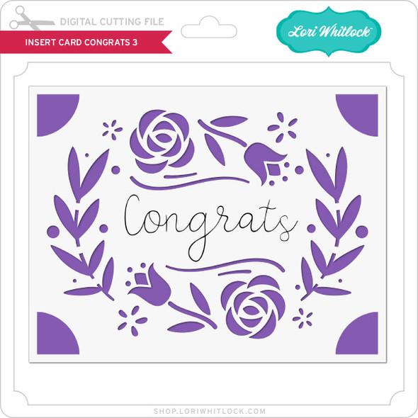 Insert Card Congrats 3