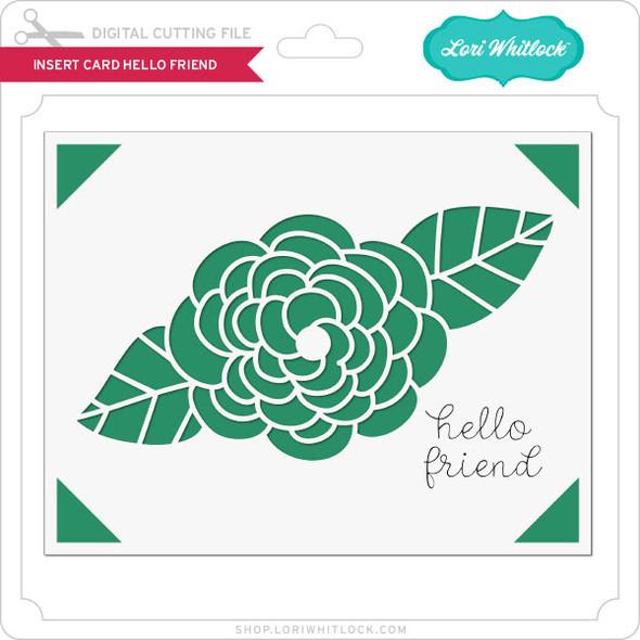Insert Card Hello Friend