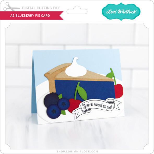 A2 Blueberry Pie Card