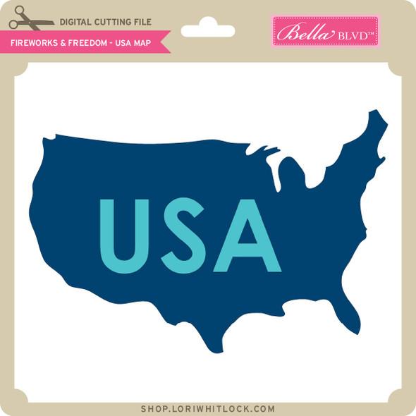 Fireworks & Freedom - USA Map