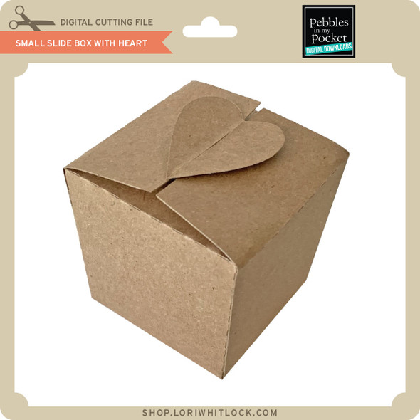 Small Slide Box with Heart