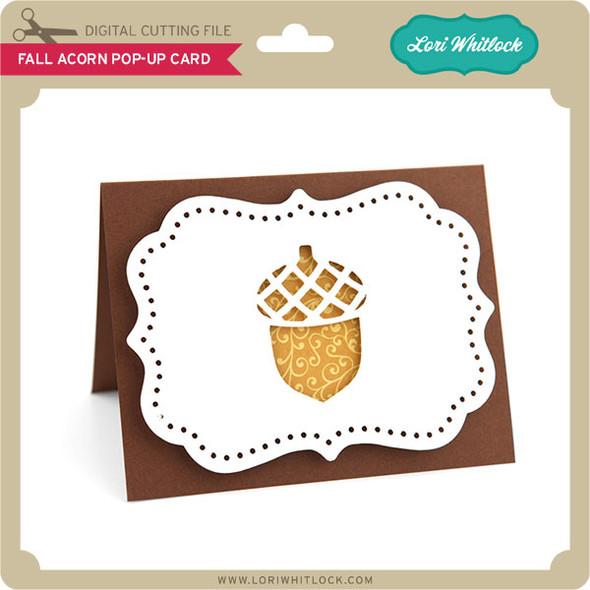 Fall Acorn Pop-Up Card