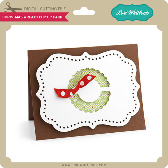 Christmas Wreath Pop-Up Card