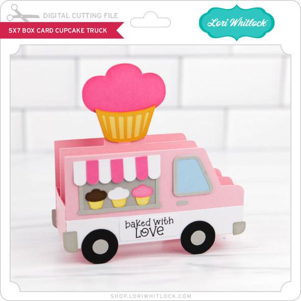 5x7 Box Card Cupcake Truck