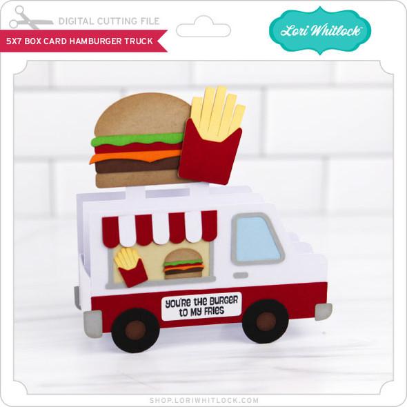 5x7 Box Card Hamburger Truck