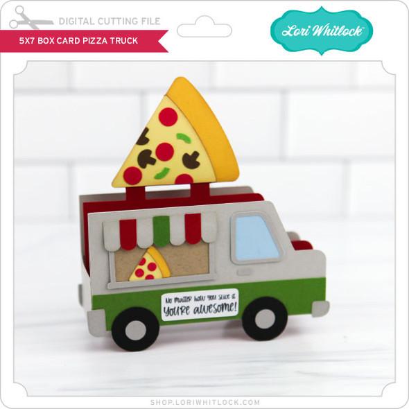 5x7 Box Card Pizza Truck