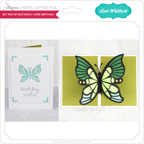 5x7 Pop Up Butterfly Card Birthday