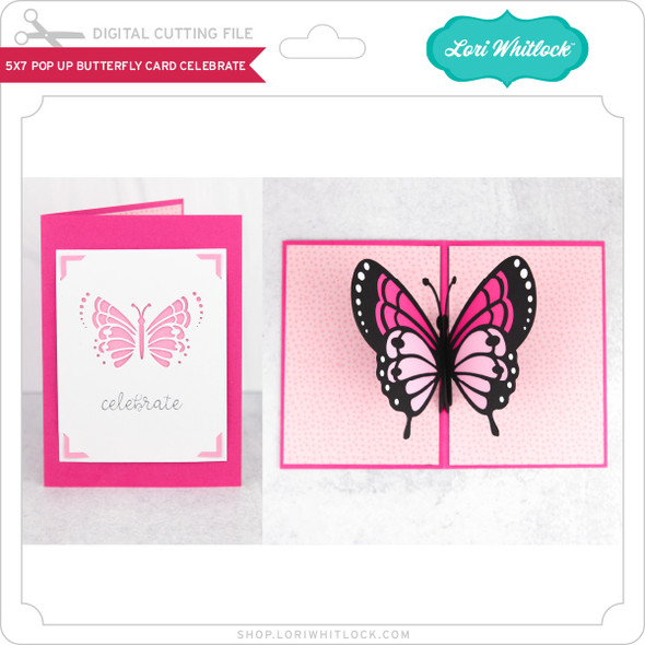 5x7 Pop Up Butterfly Card Celebrate