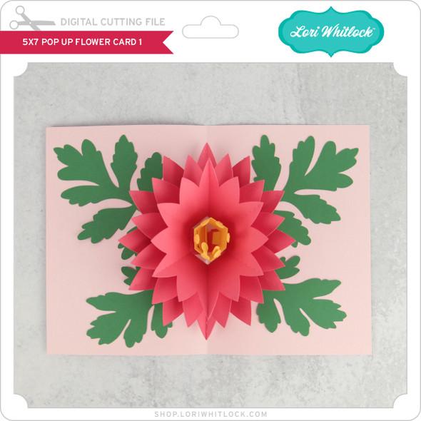 5x7 Pop Up Flower Card 1
