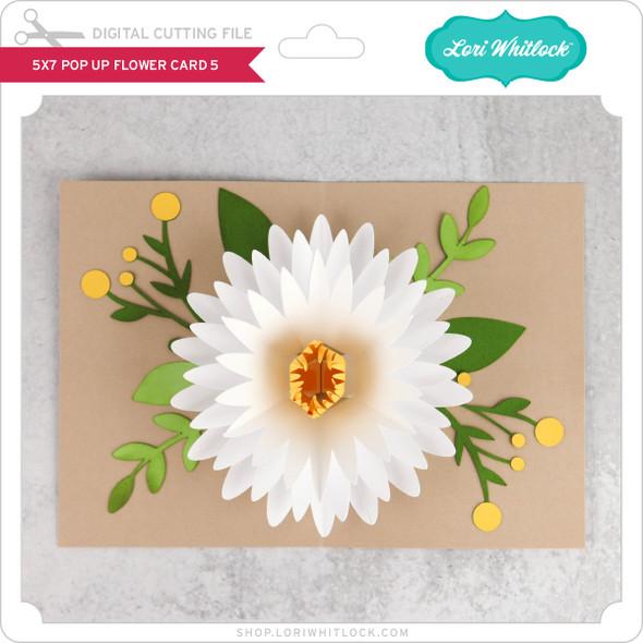 5x7 Pop Up Flower Card 5