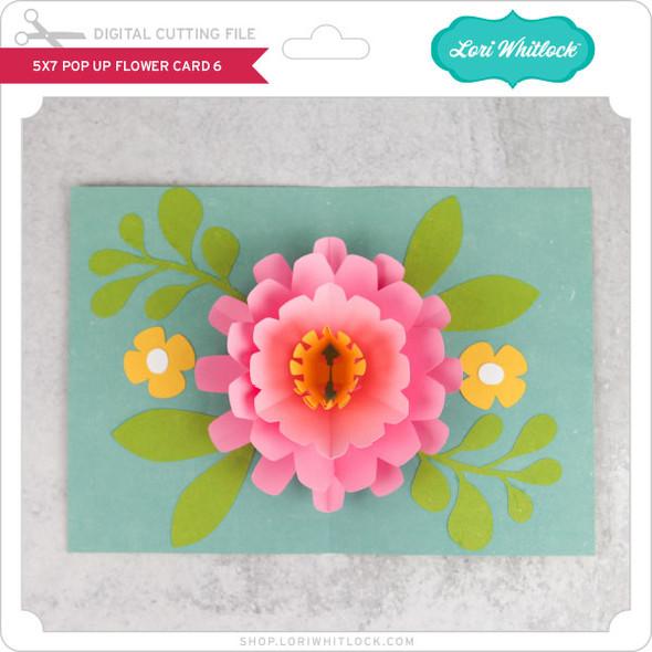 5x7 Pop Up Flower Card 6
