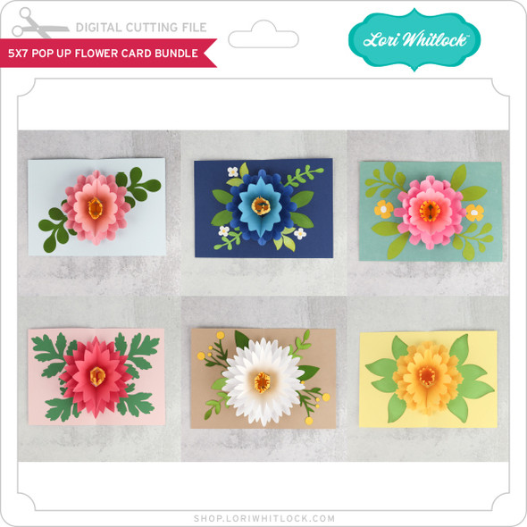 5x7 Pop Up Flower Card Bundle