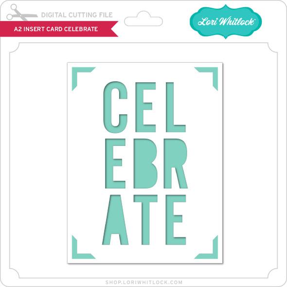 A2 Insert Card Celebrate