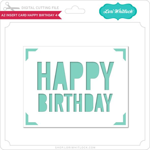A2 Insert Card Happy Birthday 4