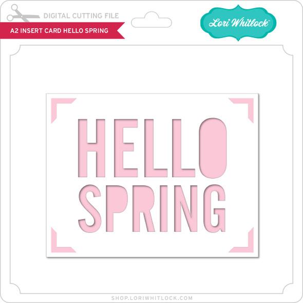 A2 Insert Card Hello Spring