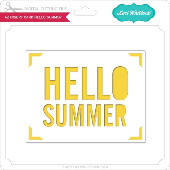 A2 Insert Card Hello Summer