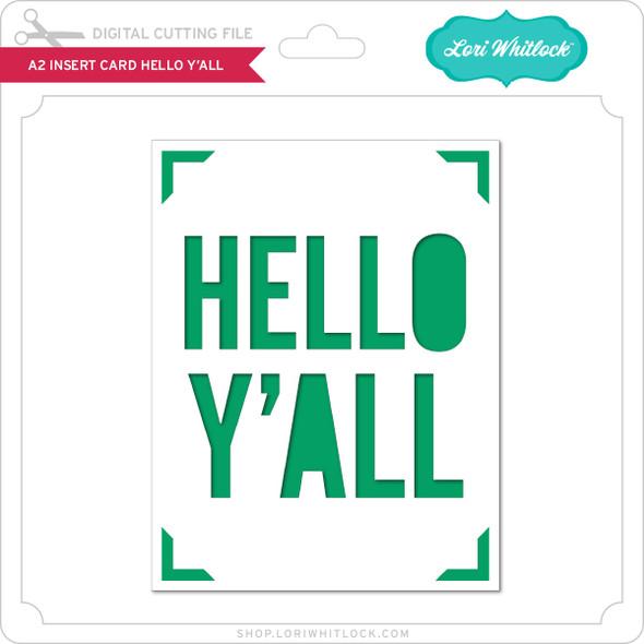 A2 Insert Card Hello Y'All